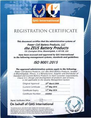 ISO-Certified Manufacturer Registration Certificate